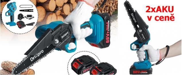 Akumulátorová ruční pila DrillPro 6 palců včetně 2 x 7500mAh baterie 88Vf 18V