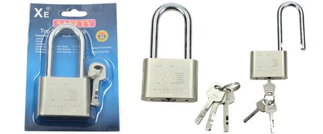 Masivní bezpečnostní visací zámek s klíči 60mm