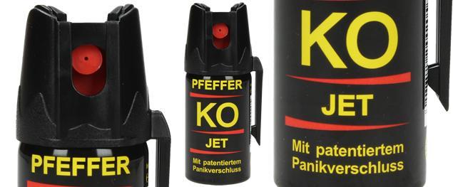 Obranný pepřový sprej KO JET 40ml černý