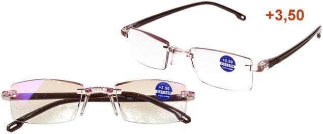 Dioptrické brýle s antireflexní vrstvou hnědé +3,50