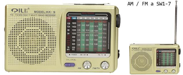 Kapesní rádio KK-9 AM/FM/TV