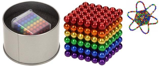 Barevné magnetické kuličky 5 mm